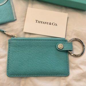 Tiffany key ring keychain card case wallet